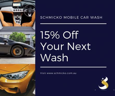 15% Off Regular Car Washes