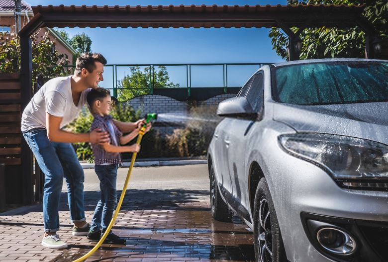 car wash at home